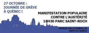 Conseil de greve Manif 27 ocotbre
