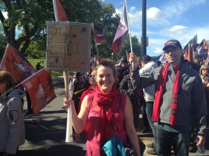 Manifestation du 3 octobre Caroline
