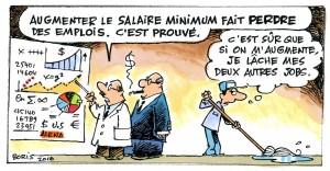 Salaire minimum Caricature