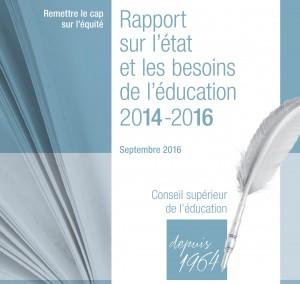 Rapport sur l'état et les besoins de l'éducation 2014-2016