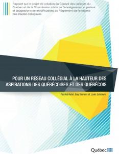 Pour un réseau collégial à la hauteur des aspirations des Québécoises et des Québécois